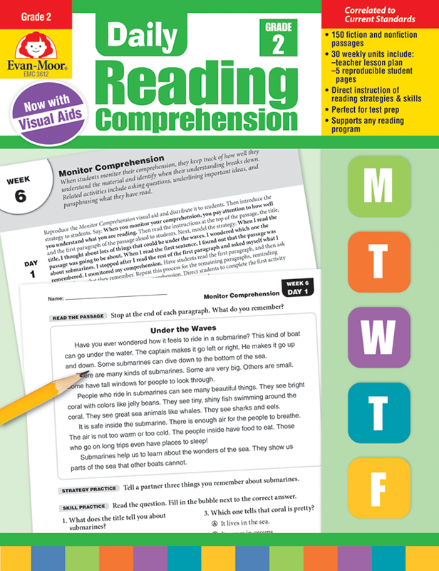 Picture of Daily Reading Comprehension, Grade 2, Teacher's Edition, E-book