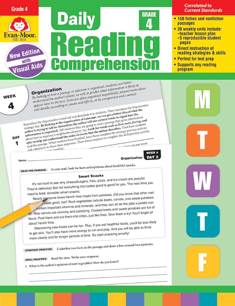 Picture of Daily Reading Comprehension, Grade 4 - Teacher's Edition, Print