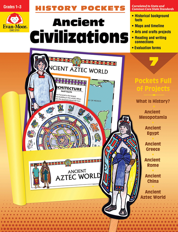 Picture of History Pockets: Ancient Civilizations, Grades 1-3 - Teacher Reproducibles, E-book