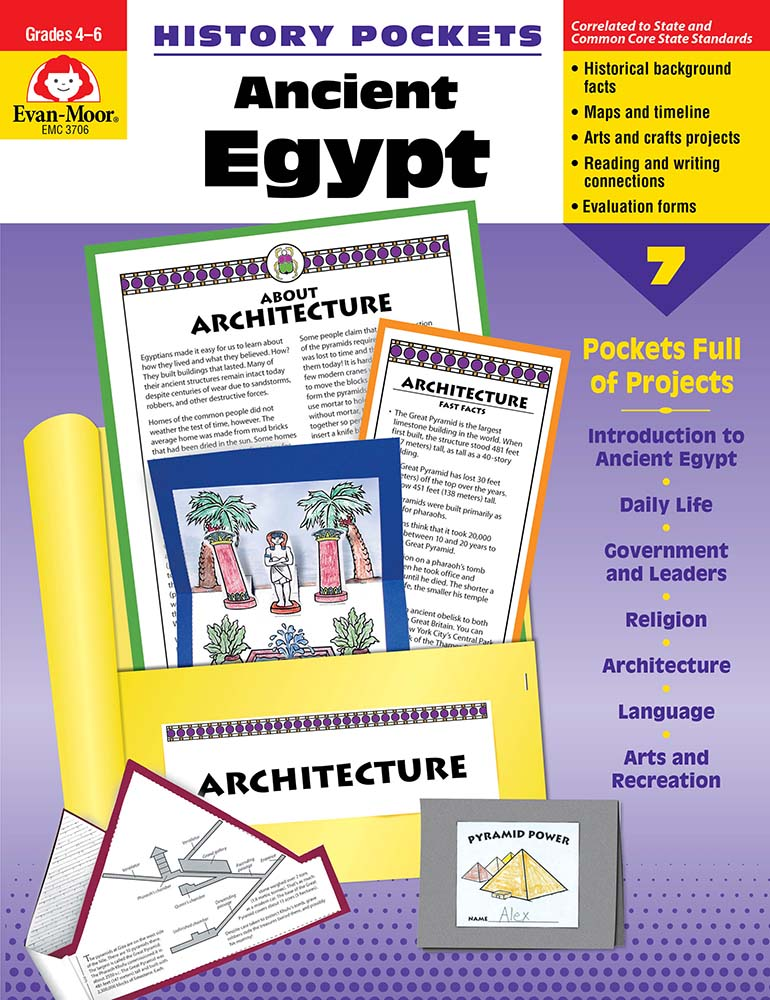 Picture of History Pockets: Ancient Egypt, Grades 4-6 - Teacher Reproducibles, Print