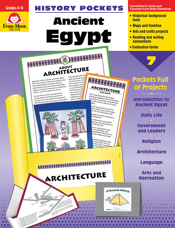 Picture of History Pockets: Ancient Egypt, Grades 4-6 - Teacher Reproducibles, E-book