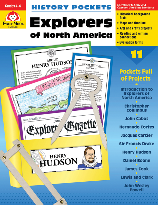 Picture of History Pockets: Explorers of North America, Grades 4-6 - Teacher Reproducibles, E-book
