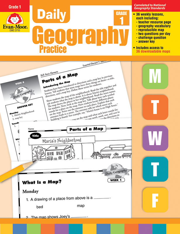 Picture of Daily Geography Practice, Grade 1 - Teacher's Edition, E-book