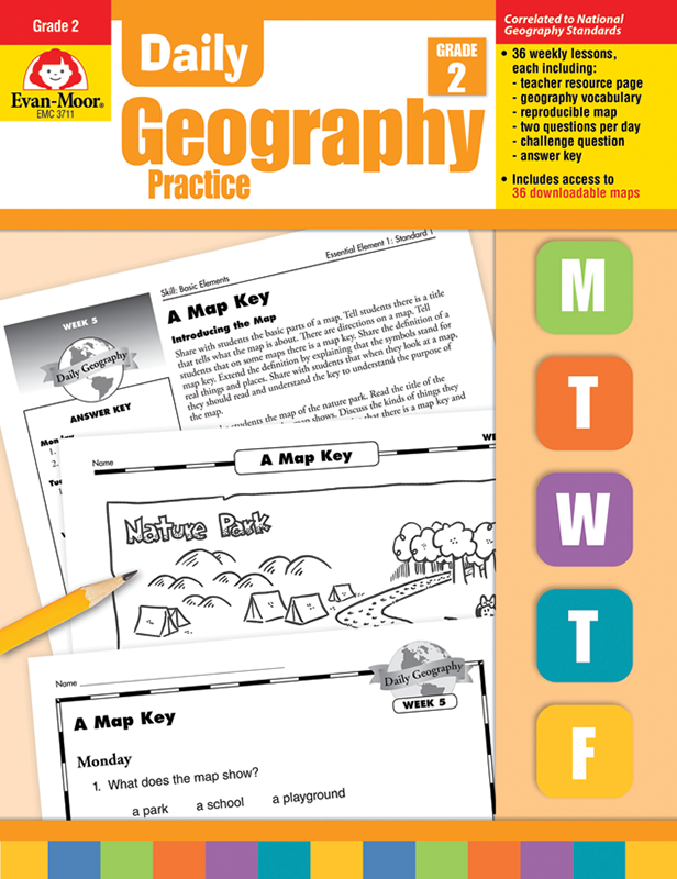 Picture of Daily Geography Practice, Grade 2 - Teacher's Edition, E-book