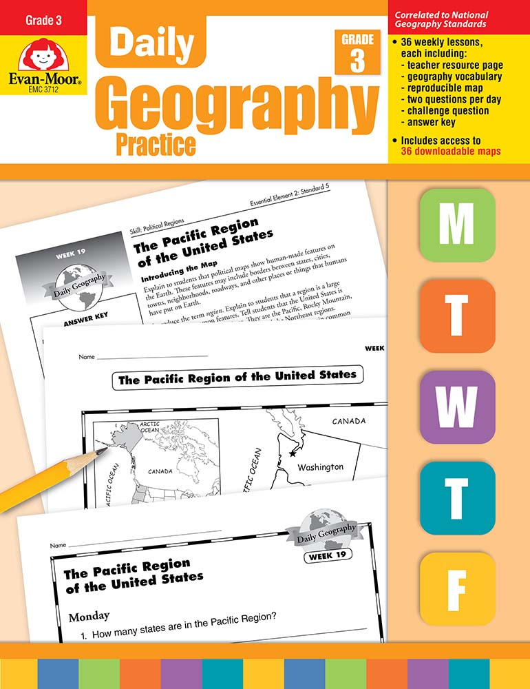 Picture of Daily Geography Practice, Grade 3 - Teacher's Edition, Print