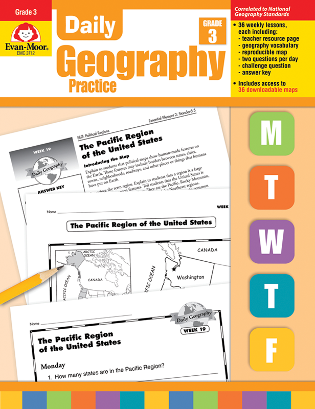 Picture of Daily Geography Practice, Grade 3 - Teacher's Edition, E-book