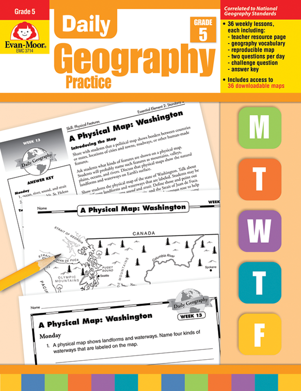Picture of Daily Geography Practice, Grade 5 - Teacher's Edition, E-book