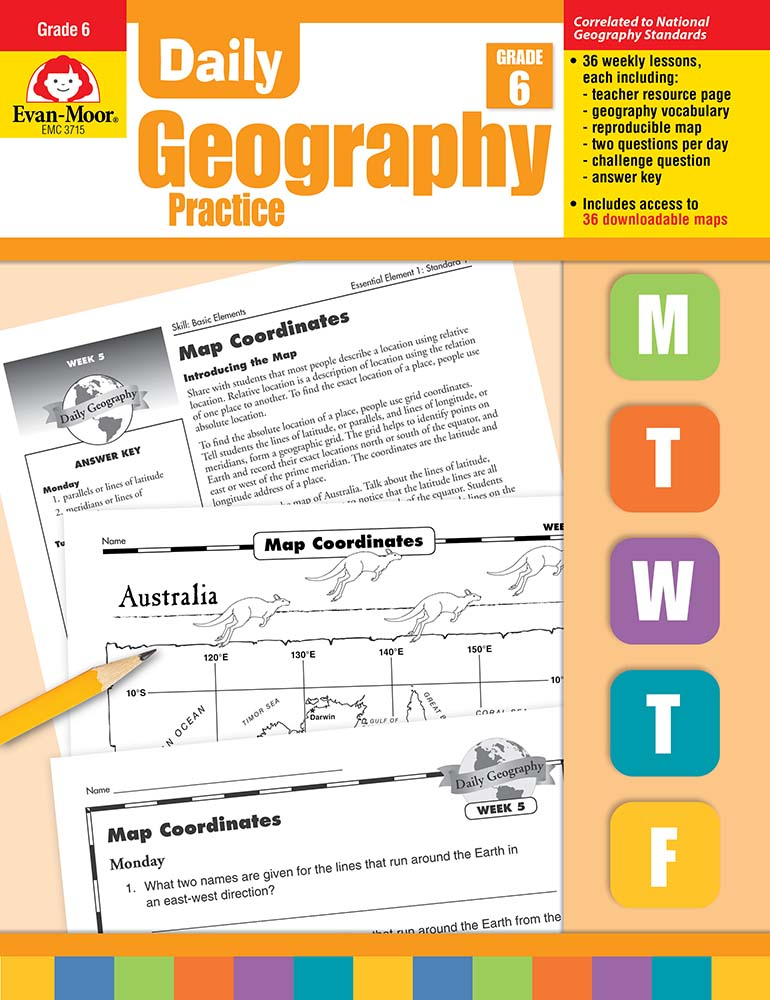 Picture of Daily Geography Practice, Grade 6 - Teacher's Edition, Print