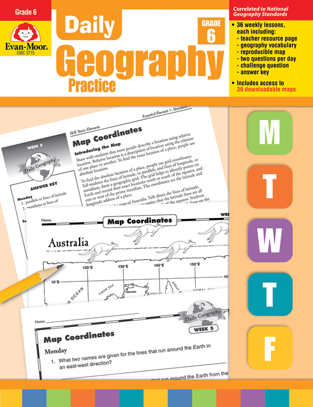 Picture of Daily Geography Practice, Grade 6 - Teacher's Edition, E-book
