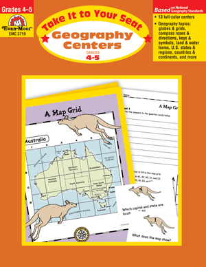 Picture of Take It to Your Seat: Geography Centers, Grades 4-5 - Teacher Resource, Print