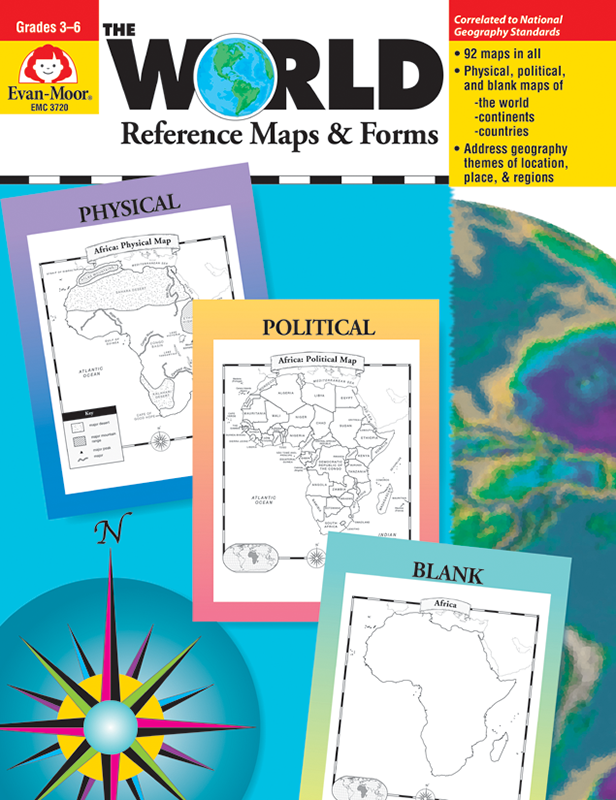 Picture of The World - Reference Maps & Forms, Grades 3-6 - Teacher Reproducibles, E-book