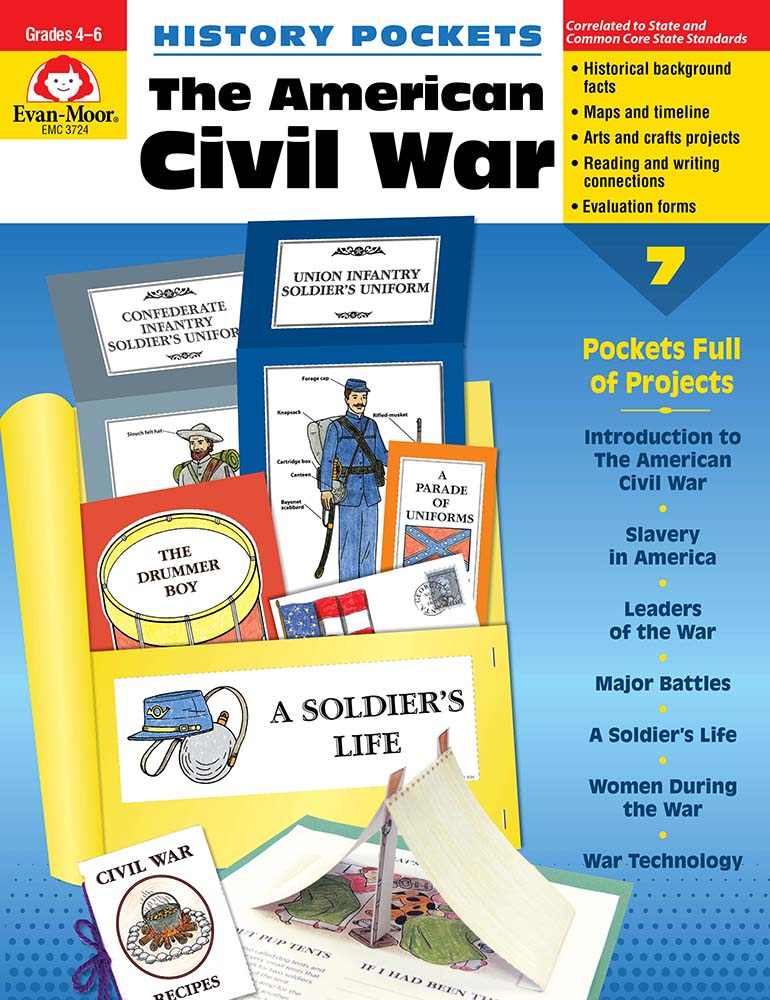 Picture of History Pockets: The American Civil War, Grades 4-6 - Teacher Resource, Print