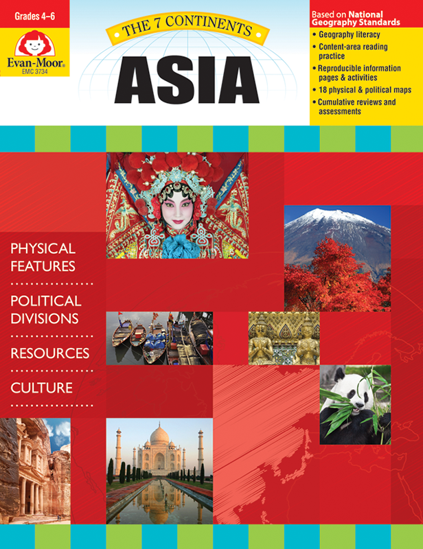 Picture of 7 Continents: Asia, Grades 4-6 - Teacher Reproducibles, E-book