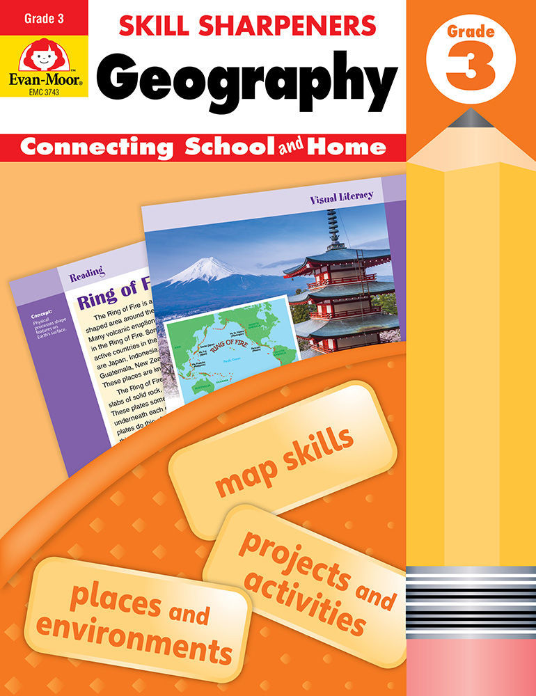 Picture of Skill Sharpeners: Geography, Grade 3 - Activity Book
