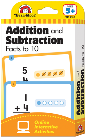 Picture of Learning Line: Addition and Subtraction Facts to 10, Grade 1+ (Age 5+) - Flashcards