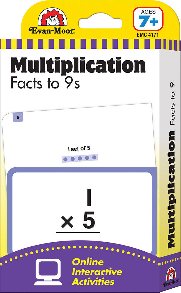 Picture of Learning Line: Multiplication Facts to 9s, Grades 2+ (Ages 7+) - Flashcards
