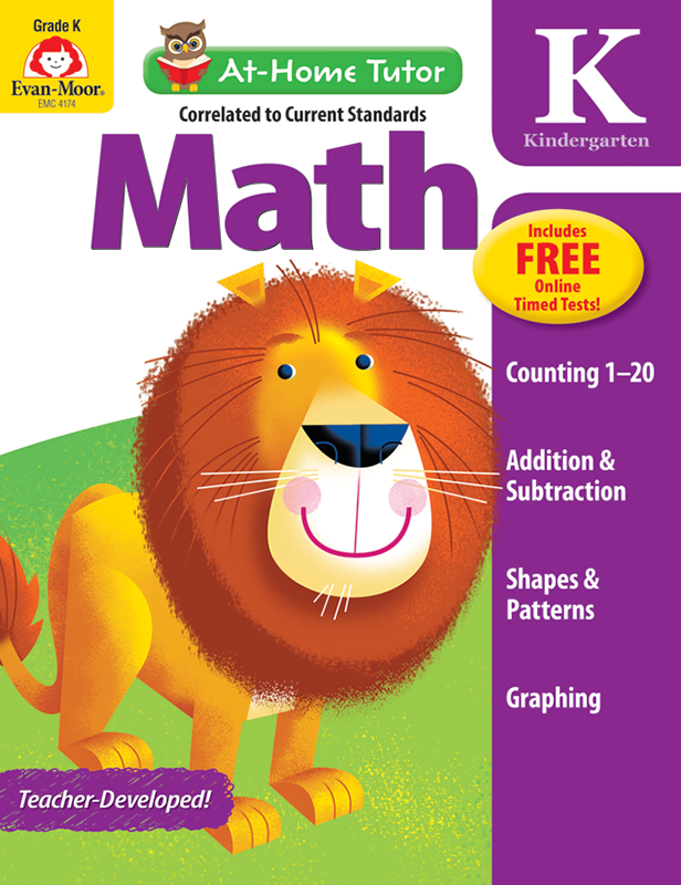 Picture of At-Home Tutor: Math, Grade K - Activity Book
