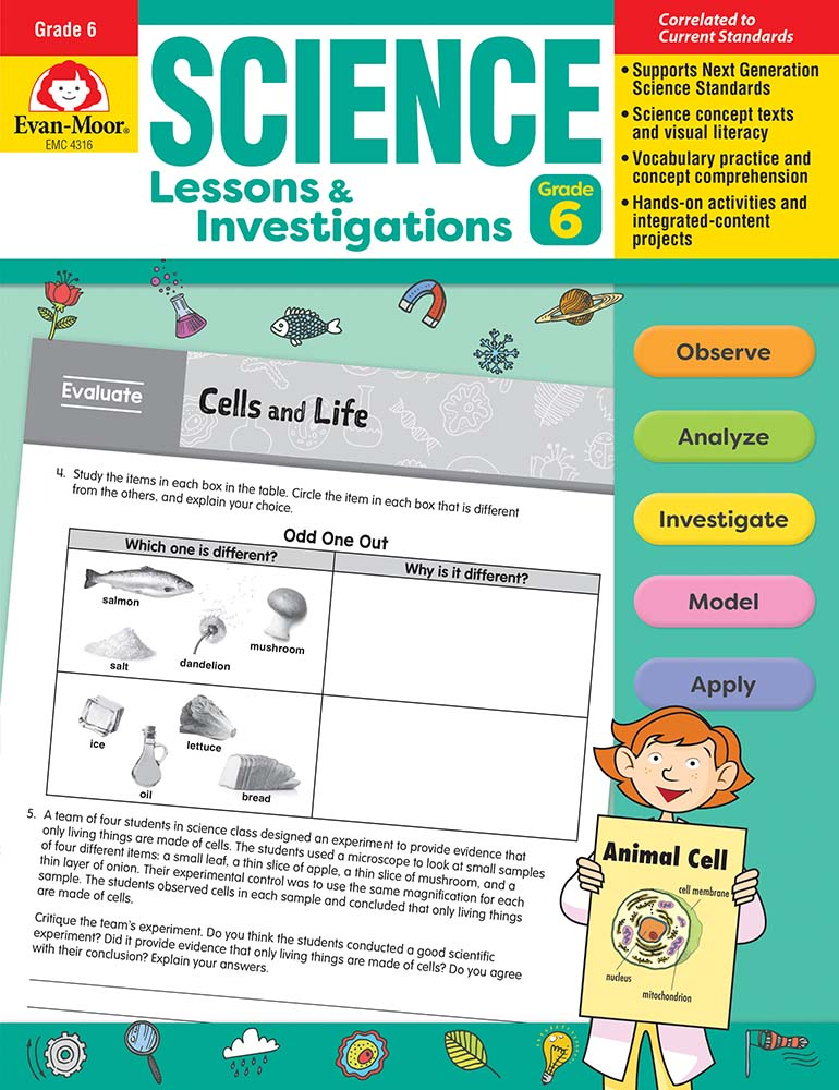 Picture of Science Lessons and Investigations, Grade 6, Teacher's Edition, Print