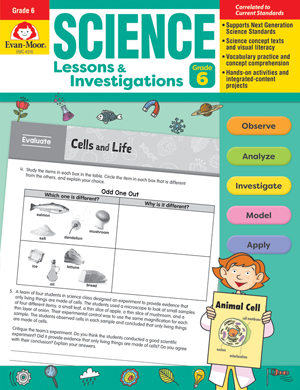 Picture of Science Lessons and Investigations, Grade 6 - Teacher's Edition, E-book
