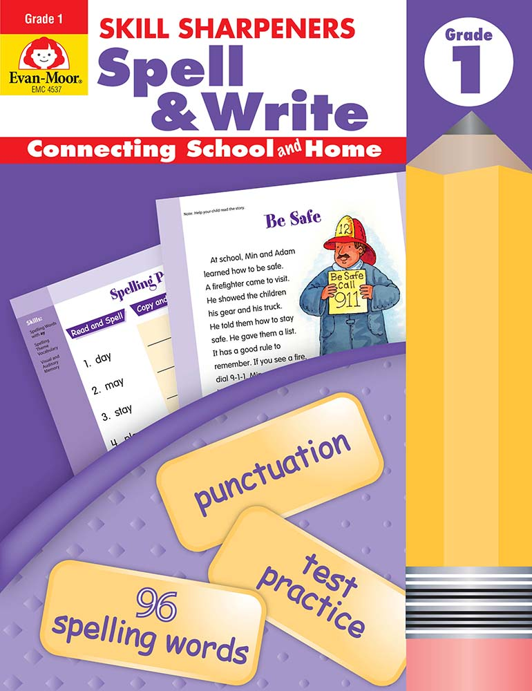 Picture of Skill Sharpeners: Spell & Write, Grade 1 - Activity Book