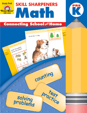 Picture of Skill Sharpeners: Math, Grade PreK - Activity Book