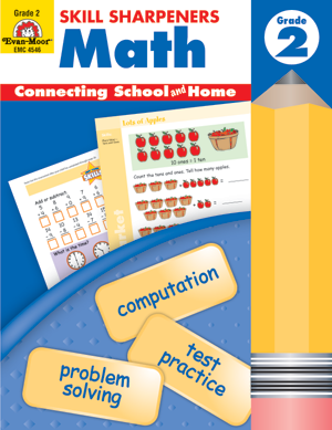 Picture of Skill Sharpeners: Math, Grade 2 - Activity Book
