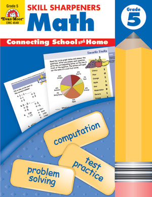 Picture of Skill Sharpeners: Math, Grade 5 - Activity Book