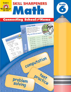 Picture of Skill Sharpeners: Math, Grade 6 - Activity Book