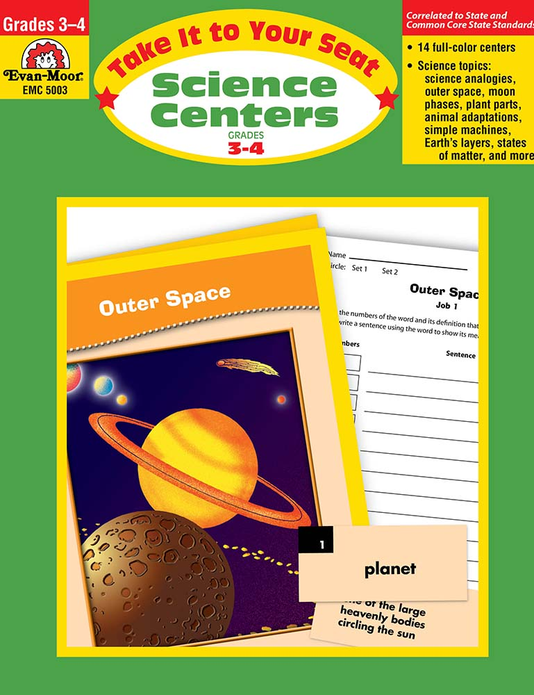 Picture of Take It To Your Seat: Science Centers, Grades 3-4 - Teacher Resource, Print