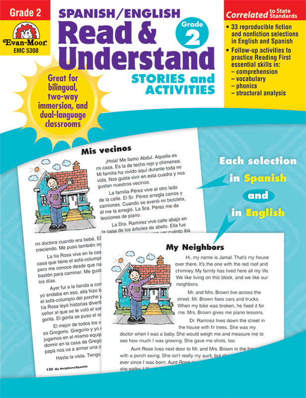 Picture of Spanish/English Read and Understand, Grade 2 - Teacher Reproducibles, E-book
