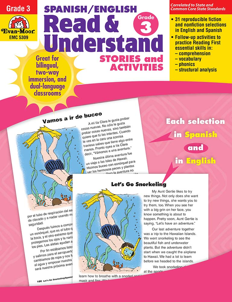 Picture of Spanish/English Read and Understand, Grade 3 - Teacher Reproducibles, Print