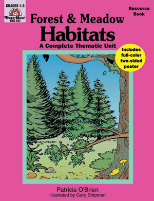 Picture of Complete Thematic Units, Habitats - Forests and Meadows - Teacher Reproducibles, E-book