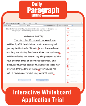 Picture of Daily Paragraph Editing, Grade 6 - Interactive Lessons Trial
