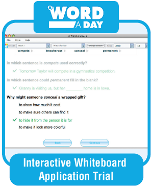Picture of A Word a Day, Grade 4 - Interactive Lessons Trial