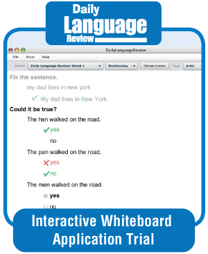 Picture of Daily Language Review, Grade 1 - Interactive Lessons Trial