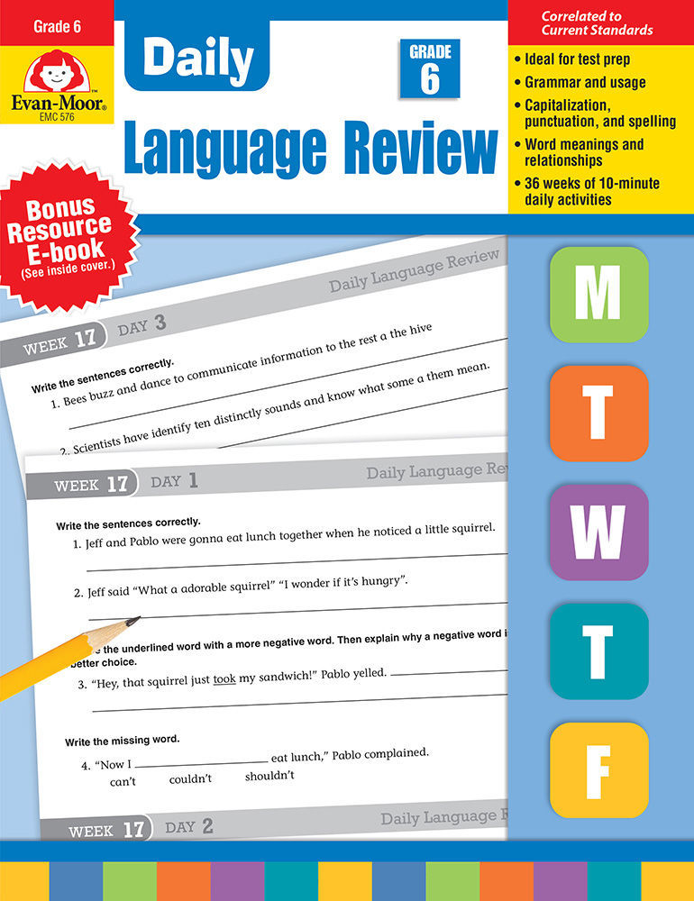 Picture of Daily Language Review, Grade 6 - Teacher's Edition, Print