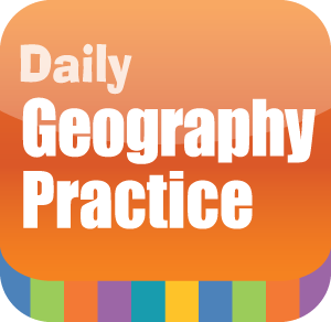 Picture of Daily Geography Practice, Grade 4 - Interactive Lessons