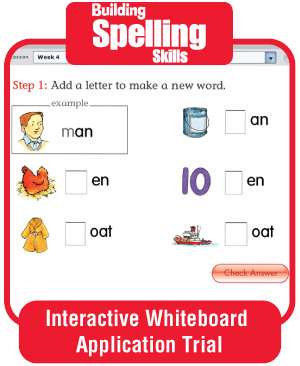 Picture of Building Spelling Skills, Grade 4 - Interactive Lessons Trial