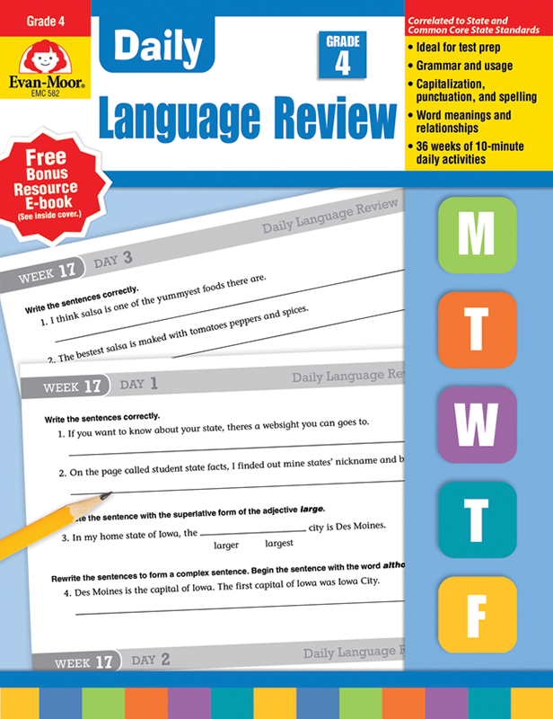 Picture of Daily Language Review, Grade 4 - Teacher's Edition, E-book