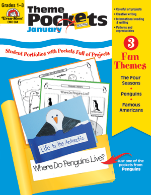 Picture of Theme Pockets, January, Grades 1-3 – Teacher Resource, E-book