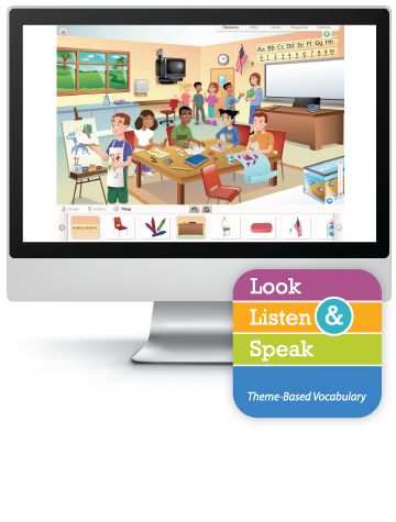 Picture of Look, Listen, & Speak: At School - Interactive Lessons