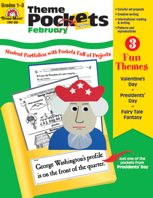 Picture of Theme Pockets, February, Grades 1-3 – Teacher Resource, E-book