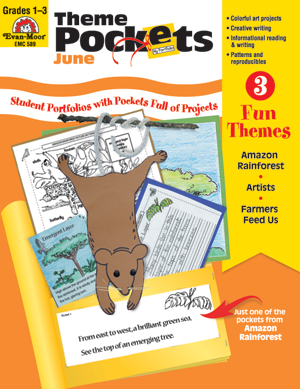 Picture of Theme Pockets, June, Grades 1-3 – Teacher Resource, E-book