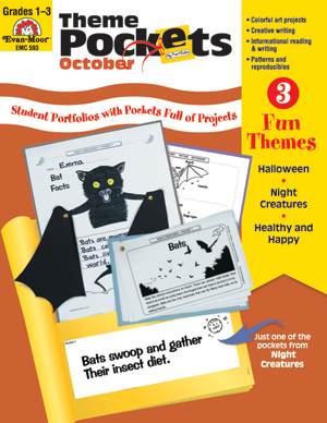 Picture of Theme Pockets, October, Grades 1-3 – Teacher Resource, E-book