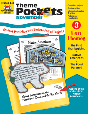 Picture of Theme Pockets, November, Grades 1-3 – Teacher Resource, E-book