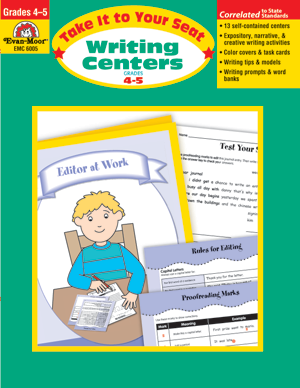 Picture of Take It To Your Seat: Writing Centers, Grades 4-5 - Teacher Resource, Print