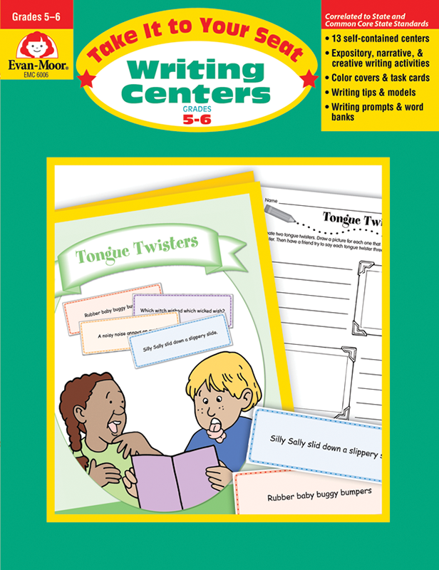 Picture of Take It To Your Seat: Writing Centers, Grades 5-6 - Teacher Resource, E-book