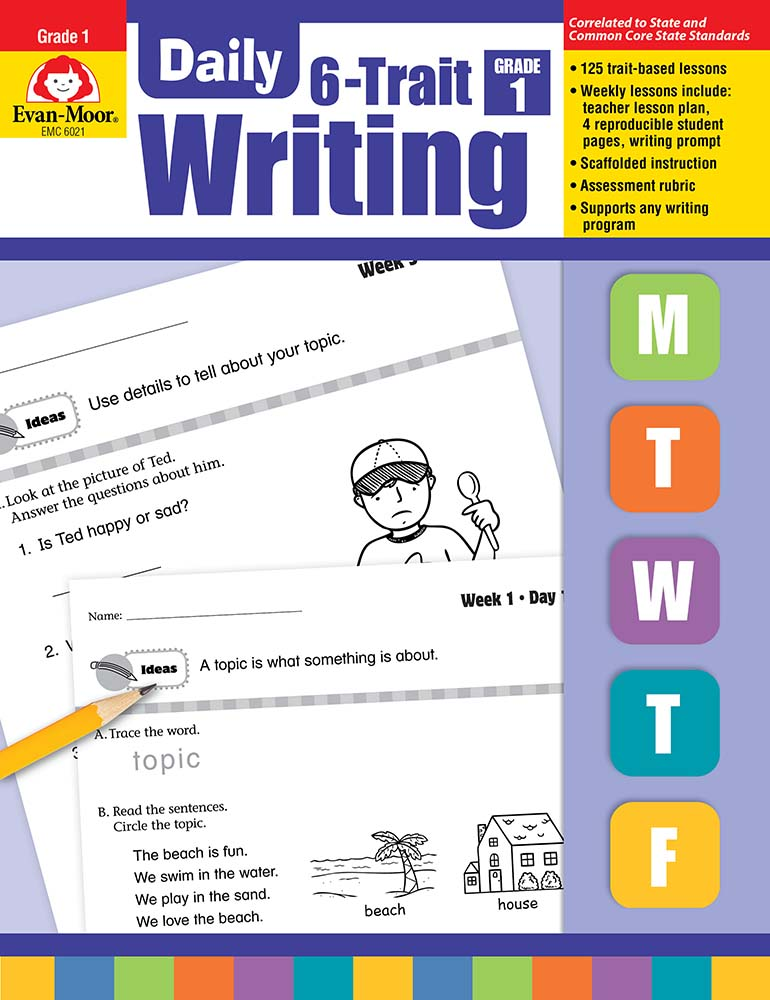Picture of Daily 6-Trait Writing, Grade 1- Teacher's Edition, E-book