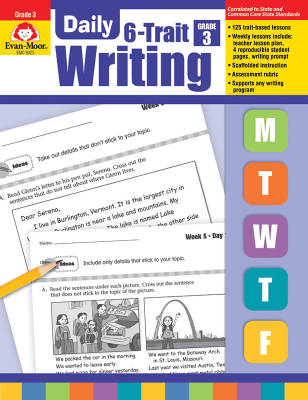 Picture of Daily 6-Trait Writing, Grade 3 - Teacher's Edition, E-book