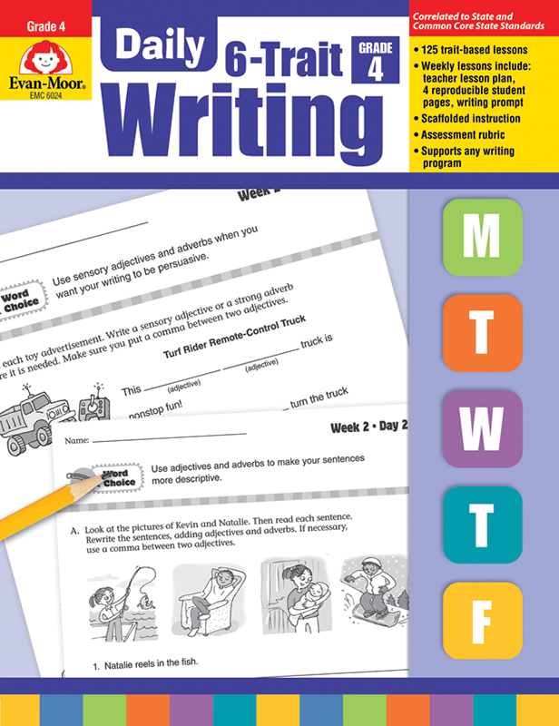 Picture of Daily 6-Trait Writing, Grade 4 - Teacher's Edition, E-book